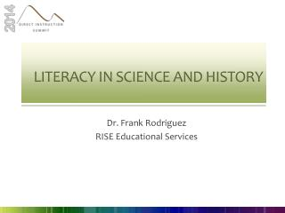 Literacy in Science  and History