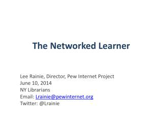 The Networked Learner