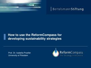 How  to  use the ReformCompass for developing sustainability strategies