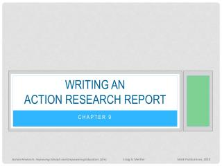 Writing an action research report