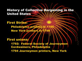 History of Collective Bargaining in the United States