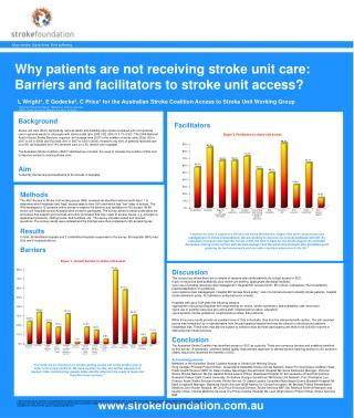 Why patients are not receiving stroke unit care:  Barriers and facilitators to stroke unit access?