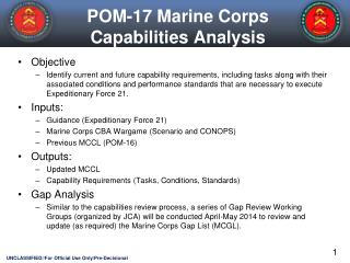 POM-17 Marine Corps Capabilities Analysis