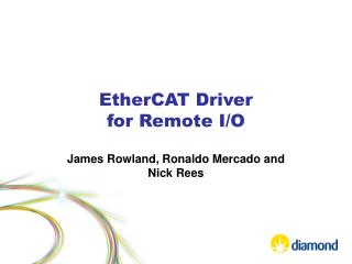 EtherCAT  Driver  for Remote I/O