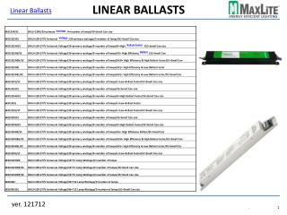 Linear Ballasts