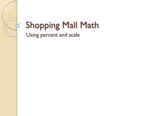 Shopping Mall Math
