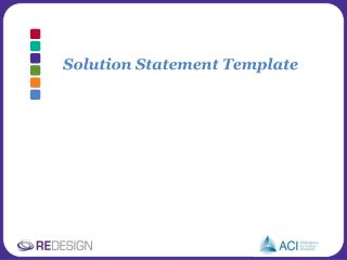 Solution Statement Template