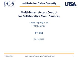 Multi- Tenan t  Access Control for Collaborative  Cloud Services