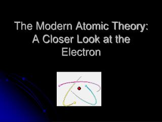 The Modern Atomic Theory:  A Closer Look at the Electron