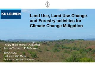 Land Use, Land Use Change and Forestry activities for Climate Change Mitigation
