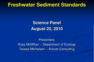 Freshwater Sediment Standards