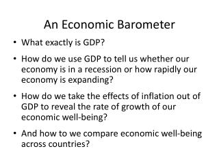 An Economic Barometer