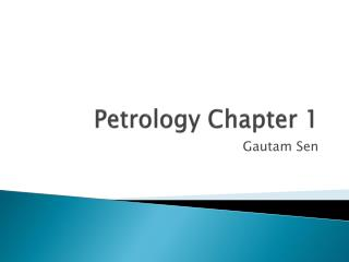 Petrology Chapter 1