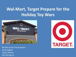Wal-Mart, Target Prepare for the Holiday Toy Wars