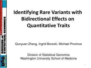 Identifying Rare Variants with Bidirectional Effects on  Quantitative Traits