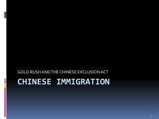 CHINESE IMMIGRATION
