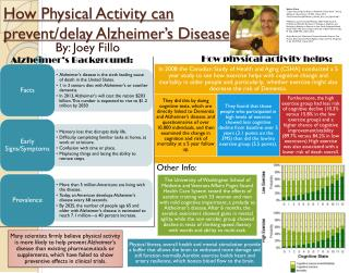 How Physical Activity can prevent/delay Alzheimer's Disease