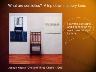 "Joseph Kosuth ""One and Three Chairs"" (1965)"