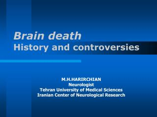 Brain death History and controversies