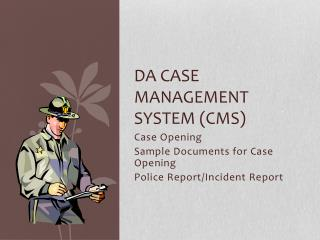 DA Case management system (CMS)