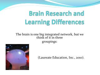 Brain Research and Learning Differences