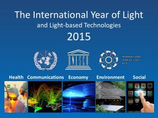 The International Year of Light and Light-based Technologies 2015