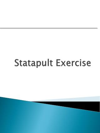 Statapult Exercise