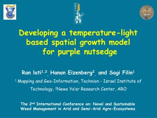 Developing a temperature-light based spatial growth model  for purple nutsedge