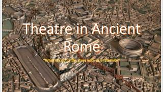 Theatre in Ancient Rome