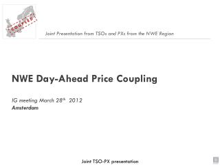 NWE Day-Ahead  Price Coupling IG meeting March 28 th   2012 Amsterdam