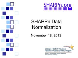 SHARPn  Data Normalization