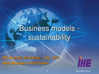 Business models - sustainability