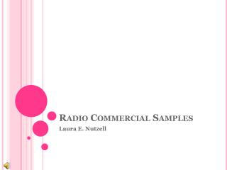 Radio Commercial Samples