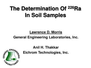 The Determination Of  226 Ra In Soil Samples