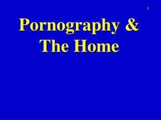 Pornography & The Home