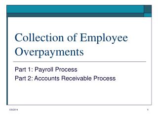 Collection of Employee Overpayments