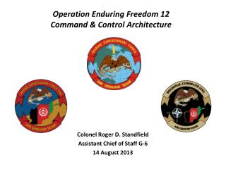 Operation Enduring Freedom 12 Command & Control Architecture