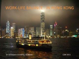 WORK-LIFE BALANCE - IN HONG KONG