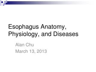 Esophagus Anatomy, Physiology, and Diseases