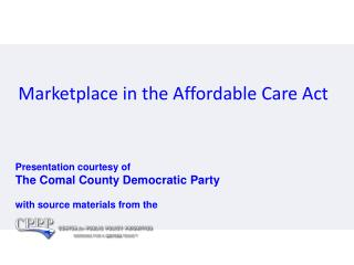 Marketplace in the Affordable Care Act