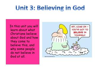 Unit 3: Believing in God
