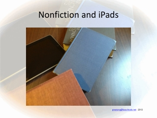 Nonfiction and iPads