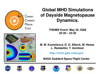 Global MHD Simulations of Dayside Magnetopause Dynamics. THEMIS Event: May 20, 2008 20:30 – 22:30