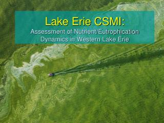 Lake Erie  CSMI: Assessment  of Nutrient/Eutrophication Dynamics in Western Lake Erie