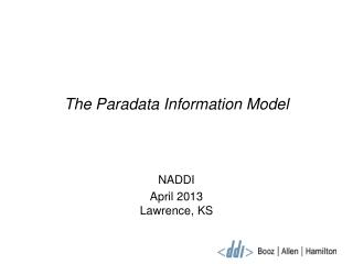 The Paradata Information Model