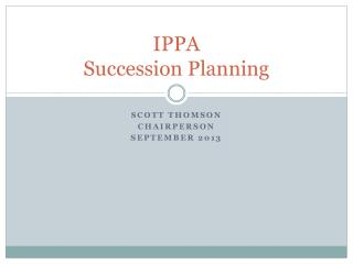 IPPA  Succession Planning