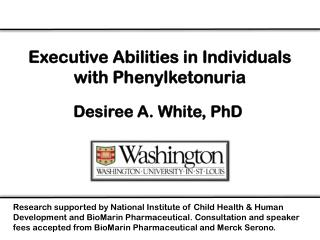 Executive Abilities in Individuals with Phenylketonuria