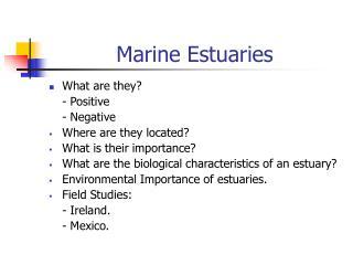 Marine Estuaries