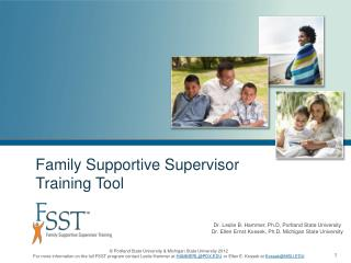 Family Supportive Supervisor Training Tool
