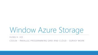Window Azure Storage